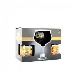 Gift pack Kasteelbier - 2 Kasteel Tripel + 2 Kasteel Donker 33cl + Copa de regalo
