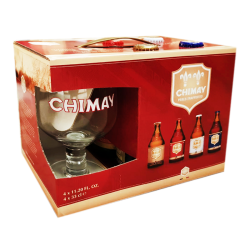 Gift pack Chimay 330 ml - 4 Unidades  + 1 copa de regalo