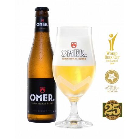 Cerveza OMER. 33cl Caja 24 Cervezas + 2 copas de regalo