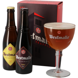 Gift pack Westmalle 1 Dubbel - 1 Trippel 330cc + 1 Copa de regalo