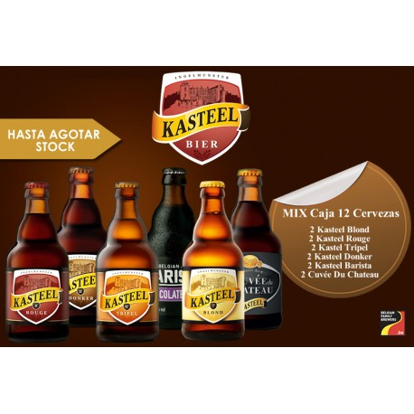 Mix Kasteel 330 ml Caja 12 Cervezas + 1 copa de regalo