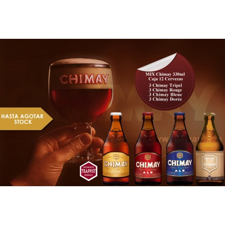 Mix Chimay 330 ml Caja 12 Cervezas