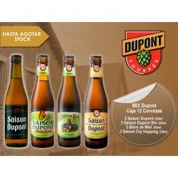 Mix Dupont Caja 12 Cervezas + 1 vaso Dupont de regalo