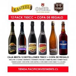 Mix Kasteel 750 ml Caja 12 Cervezas